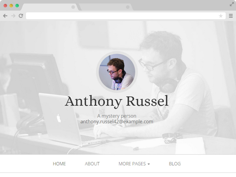 Free Personal Website Design HTML5 Template