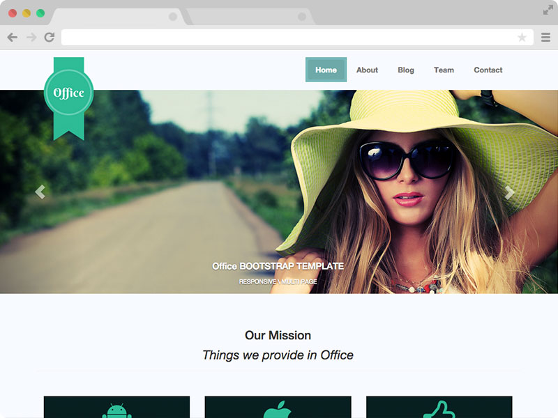 Free Responsive Multipage Bootstrap Template for Small and Medium Business