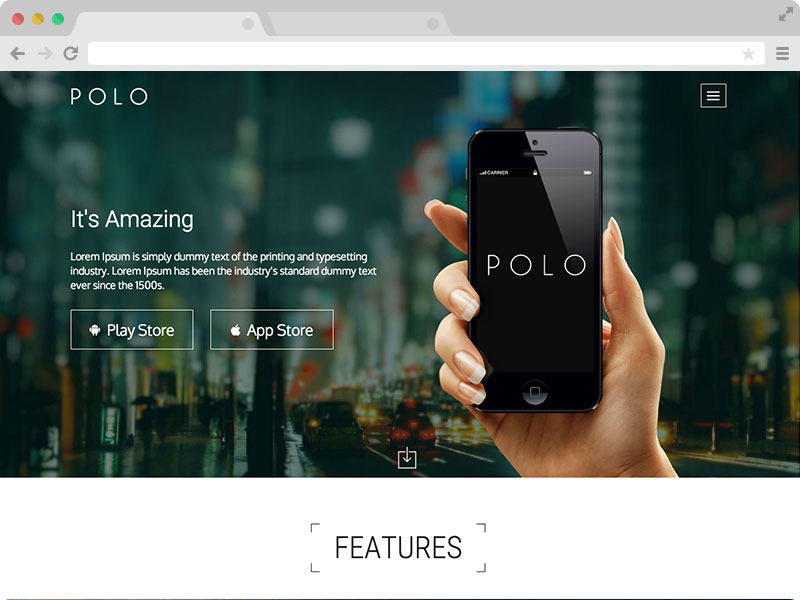 Responsive App Landing Page Template with Bootstrap