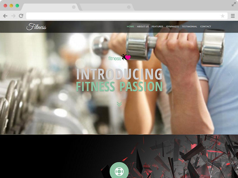 Gym Website Responsive Template with Bootstrap