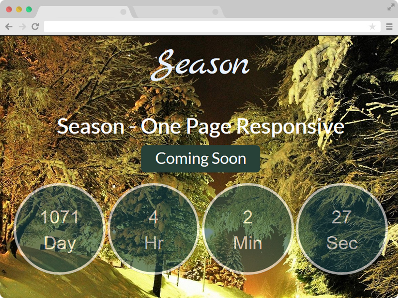 One Page Responsive Coming Soon Template