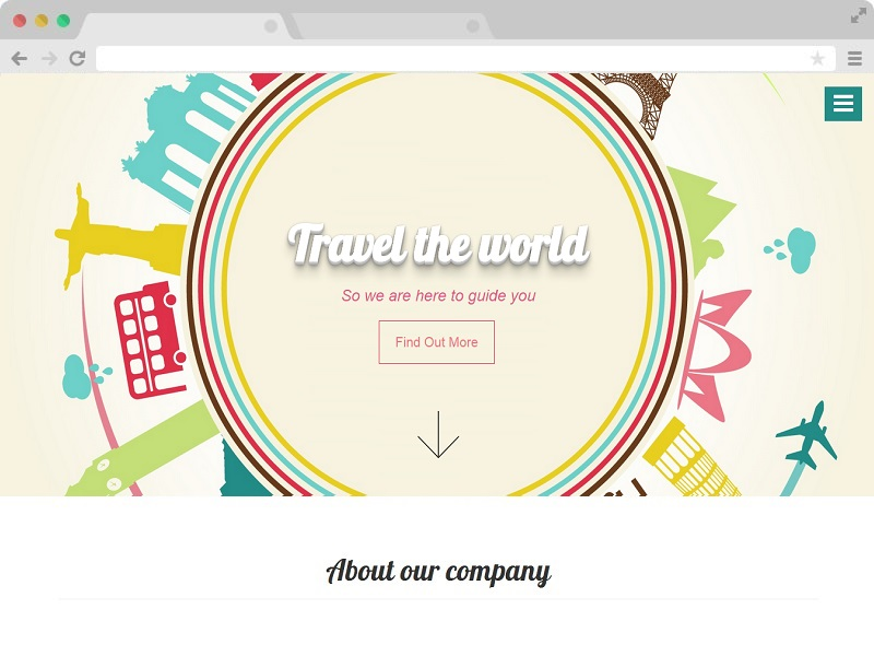 Free Bootstrap One Page Agency Website Template
