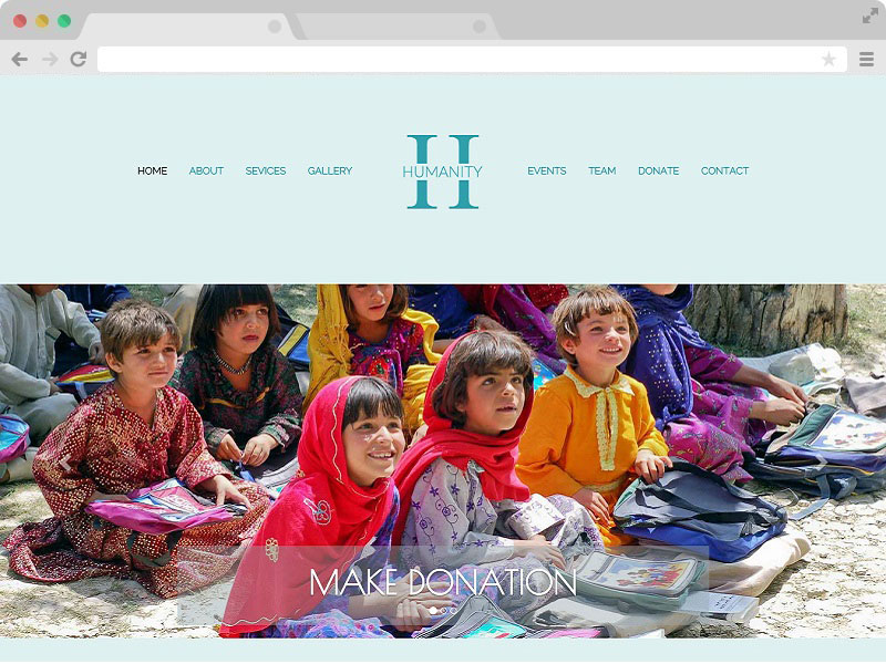 Non Profit Charity Website Bootstrap Template with HTML5