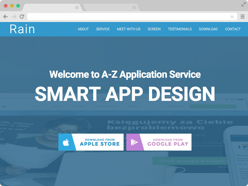 Free Responsive HTML5 App Landing Page Template