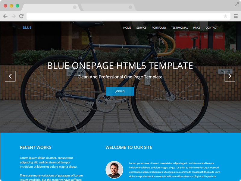 Free One Page Corporate Agency Bootstrap Template