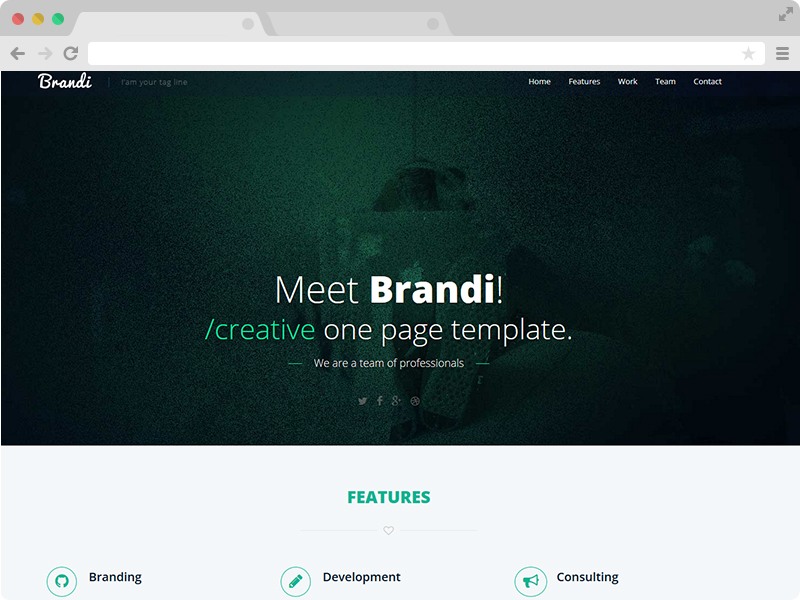Free One Page Responsive HTML5 Business Template