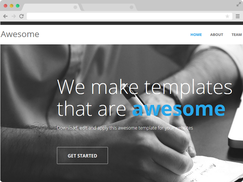 Awesome Free One Page Responsive Html5 Template