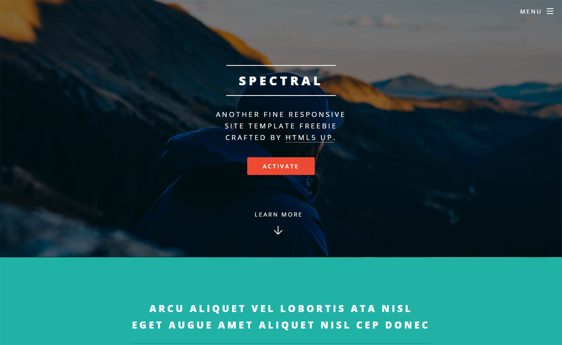 Mobile Friendly HTML5 Template