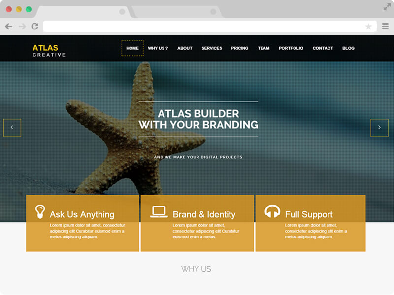 Atlas Parallax HTML5 Business Free Responsive Bootstrap Template