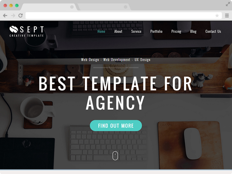 Free Responsive Corporate Agency HTML5 Template