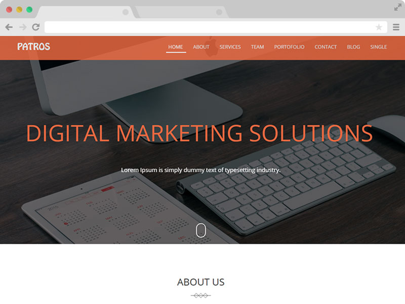 free single page business HTML5 template