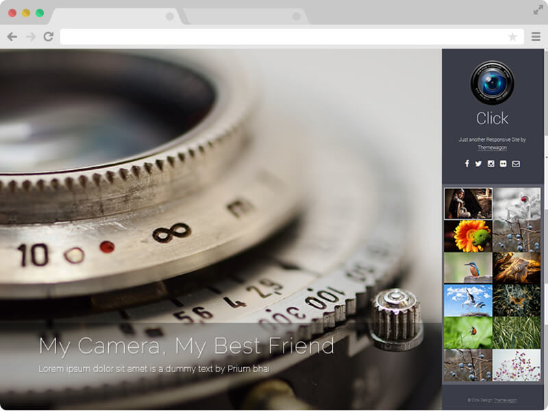 Free Responsive HTML5 Photography Template