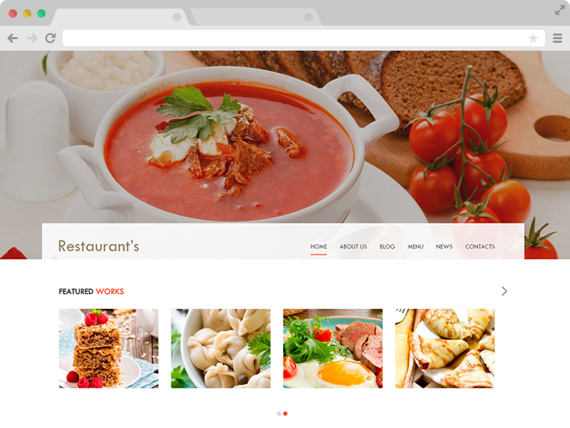 Spicy free bootstrap html5 restaurant template for Html header menu templates