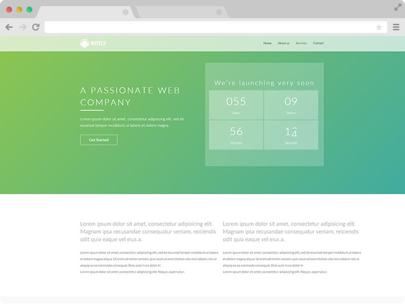 Free Responsive Product Launching Landing Page