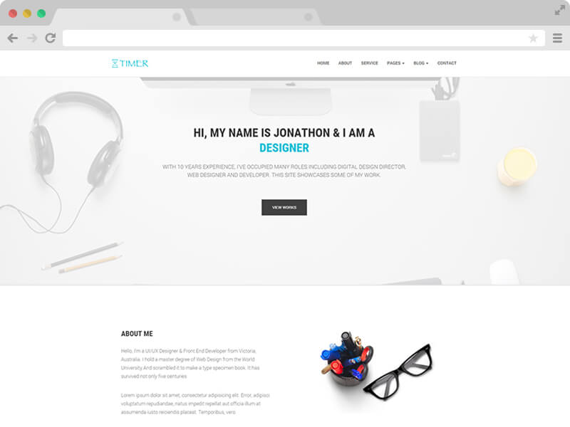 Free Responsive Multi Page Personal Bootstrap Template