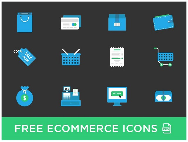 Free eCommerce Icons on Dribble