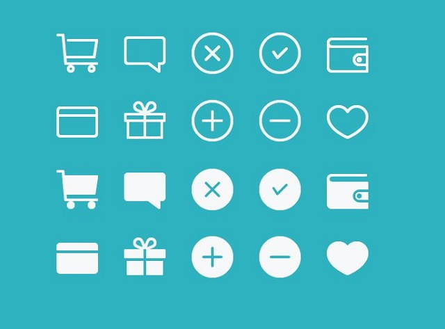 Free eCommerce icons by Kyle Adams