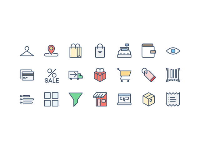 unique shopping cart ecommerce icons free download