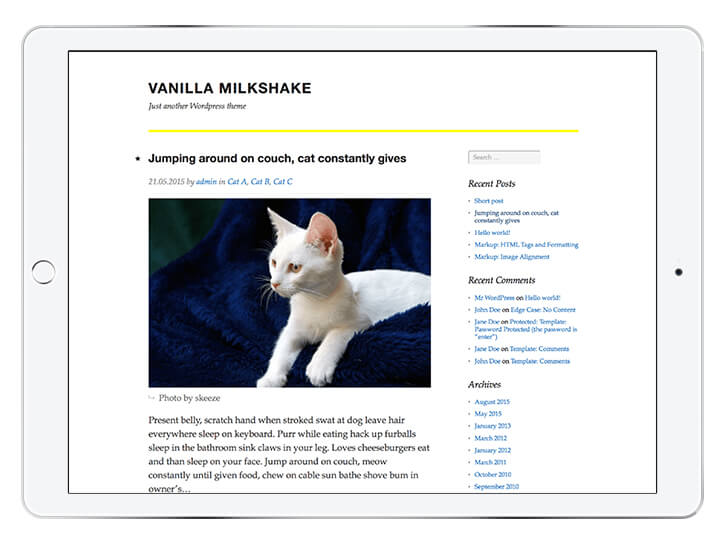 Vanilla-Milkshake---wordpress-theme-for-a-beautiful-blog