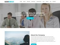 free responsive one-page business template