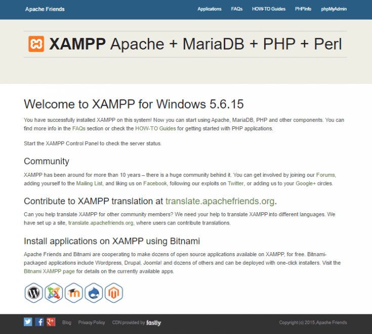 Installing WordPress in XAMPP