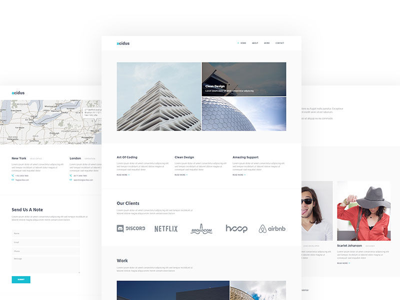 Free Bootstrap Agency Business Portfolio Personal Website theme