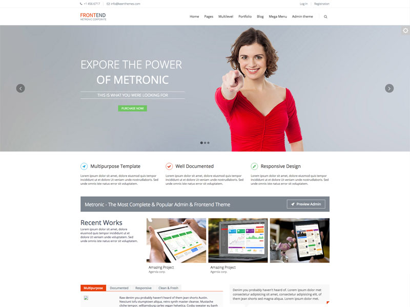 Best Free Multipurpose Bootstrap Corporate Business Template Frontend