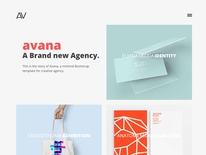 Free Responsive Bootstrap agency Template