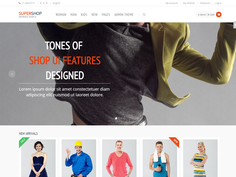 Free Responsive eCommerce Shop Bootstrap Template