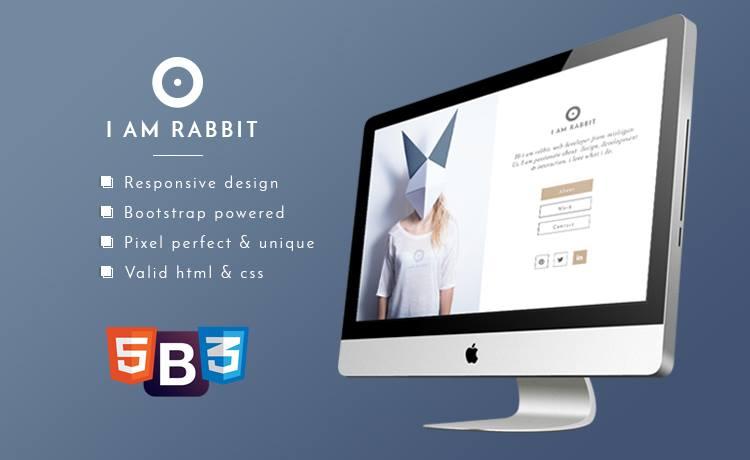 Free Bootstrap Personal Portfolio Template for Creative Personal Portfolio