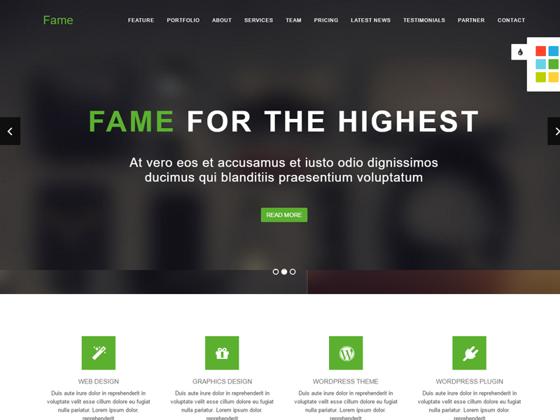 Premium Quality Free One Page Responsive Bootstrap Multipurpose Template