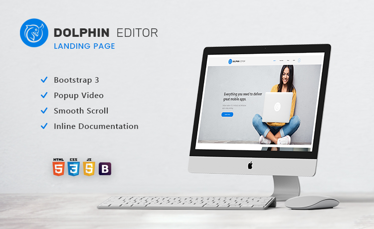 Free HTML5 Bootstrap Website Template for Landing Page