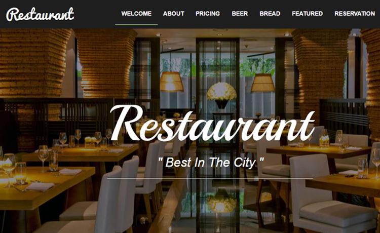 Bootstrap Food Restaurant Website Template Free Download