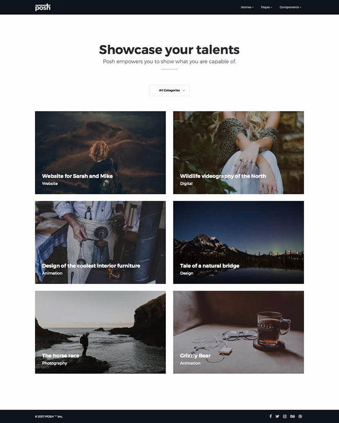 portfolio HTML 5 Bootstrap 4 template
