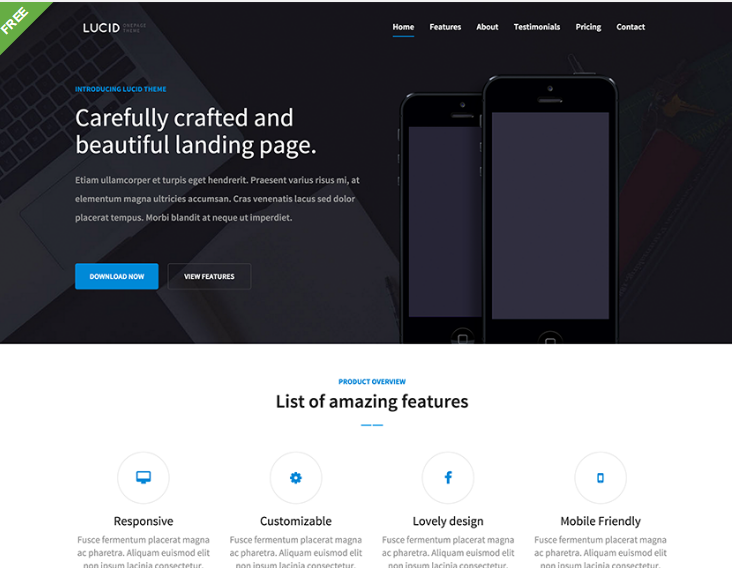Free One Page Bootstrap Template