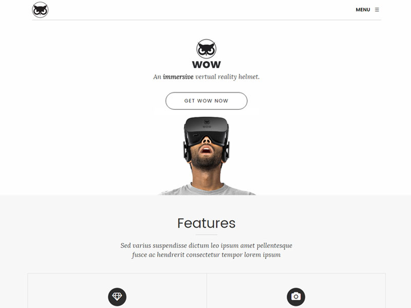 Good quality Product Landing HTML5 Bootstrap Template