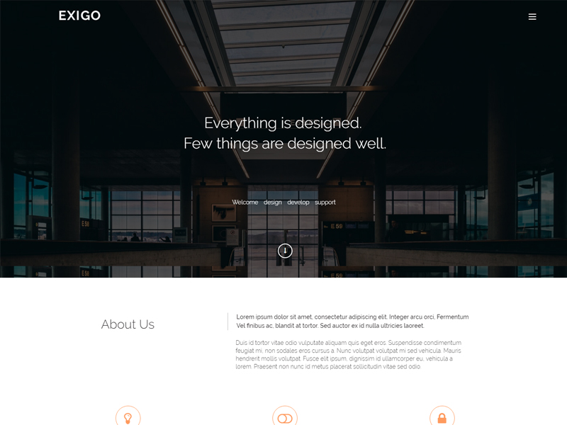 Free Creative HTML5 One-page Bootstrap Template