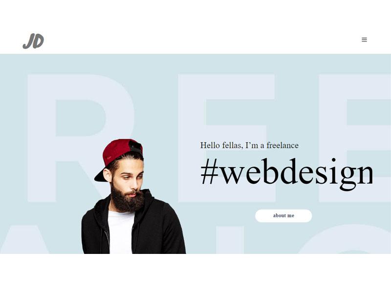 A Creative Personal Portfolio Bootstrap Template Free Download