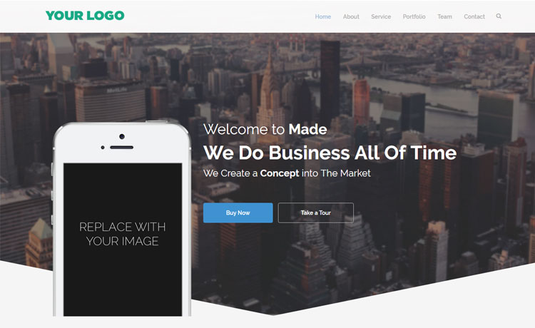 A Business HTML5 template Free Download in 2017