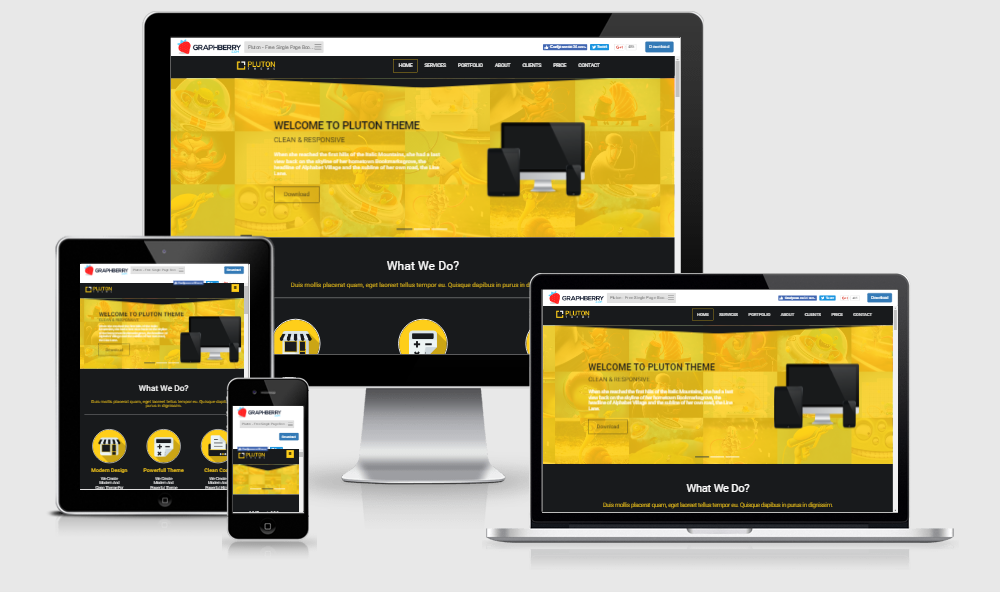 Pluton - Free responsive template