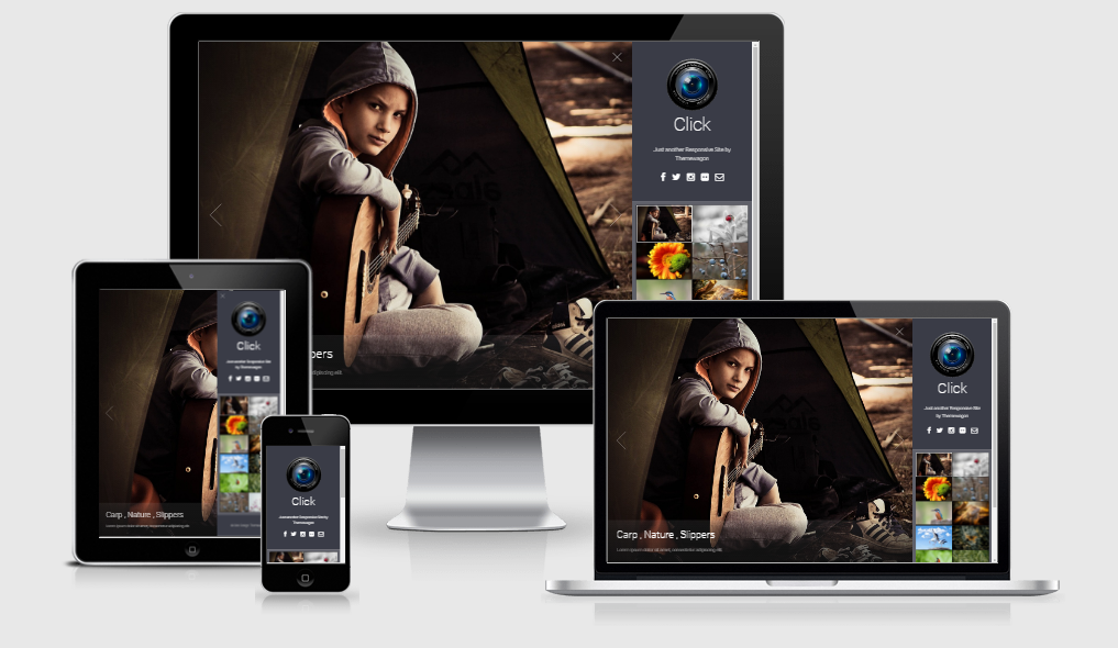 Click- Free responsive template
