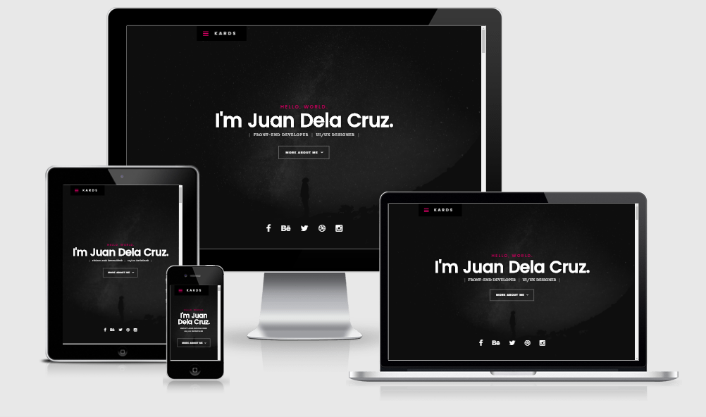 Kards - Free responsive template