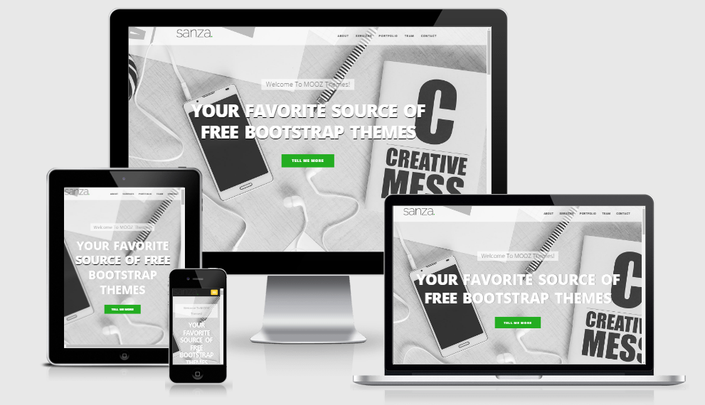 Sanza - Free responsive template