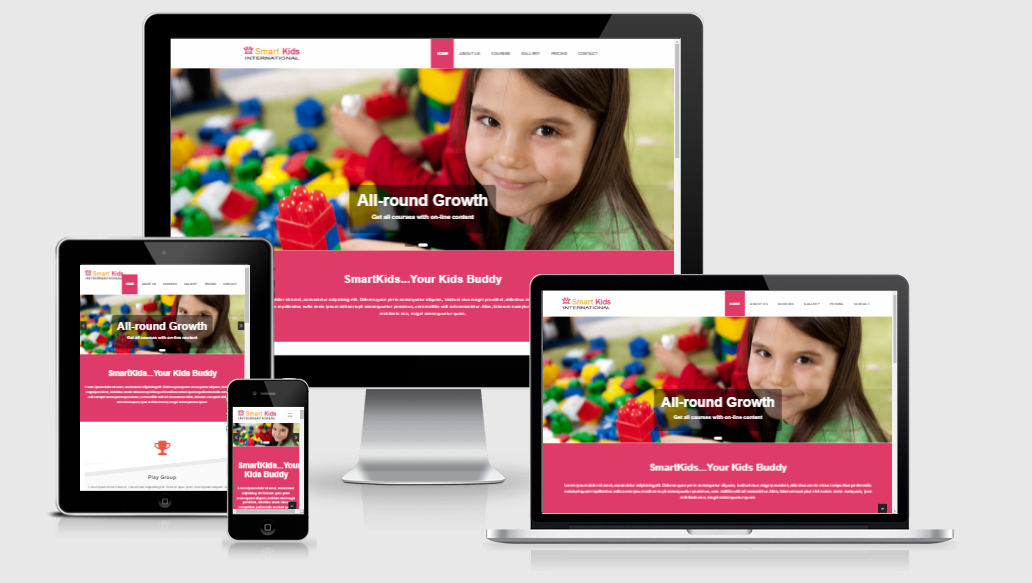 Smart Kids - Free responsive template