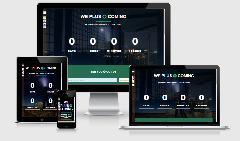 We+ Coming - Free responsive template