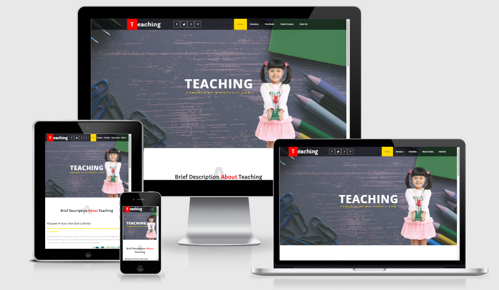 Teaching - Free Responsive Template