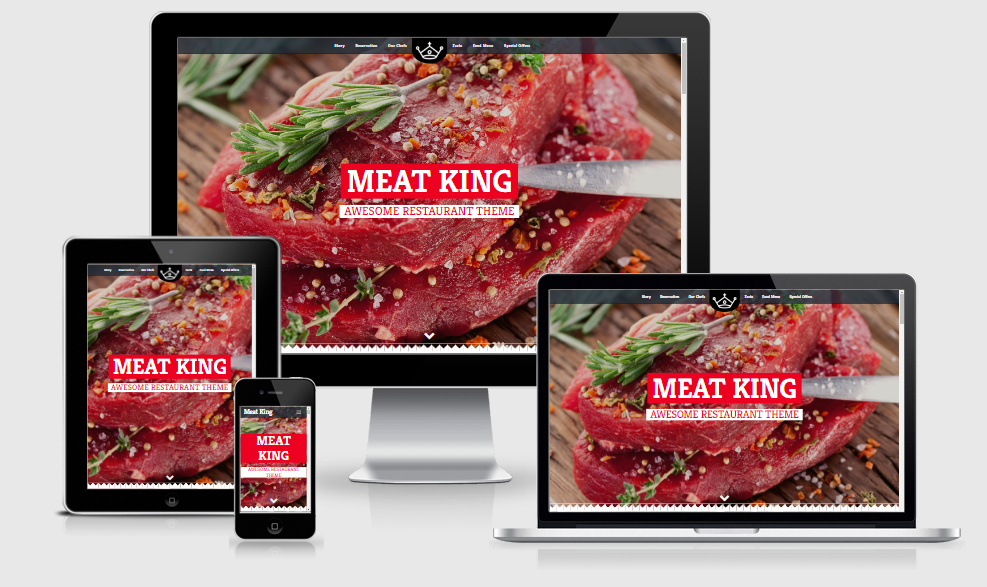 Meatking - Free responsive template