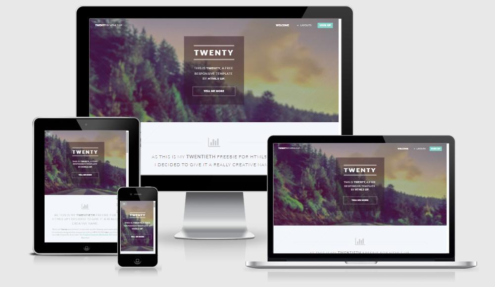 Twenty - Free responsive template