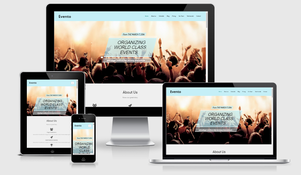 Evento - Free responsive template