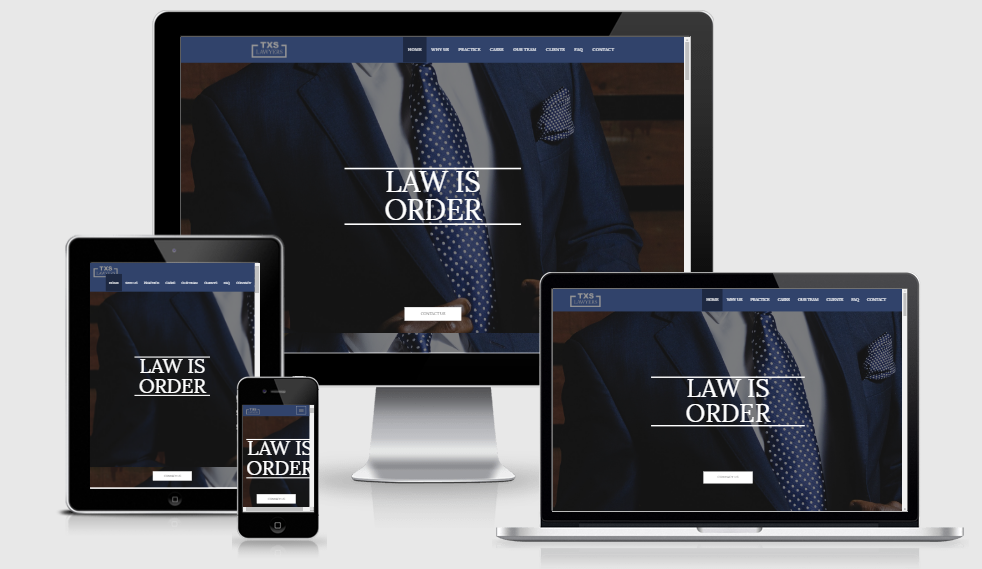 Texas Lawyer - Free responsive template